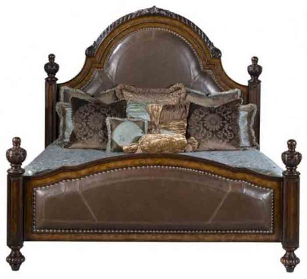 Cheyenne King Leather Bed by Ambella