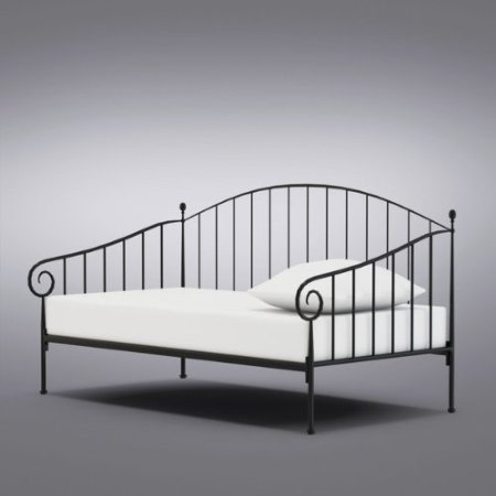 Matt Black Metal Twin Size Daybed Frame by 2K Designs