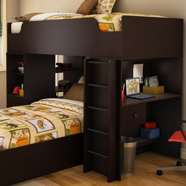 Logik Contemporary Twin Loft Bed Storage Unit