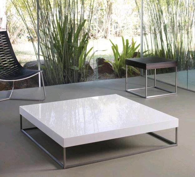 Satinado White Duke Coffee Table by Modloft