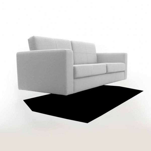 Shadow Sofa and Felt Rug by Duffy London
